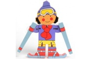 Flexi Skier-wooden toy