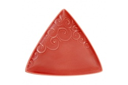 Ceramic Triangle Koru plate – red
